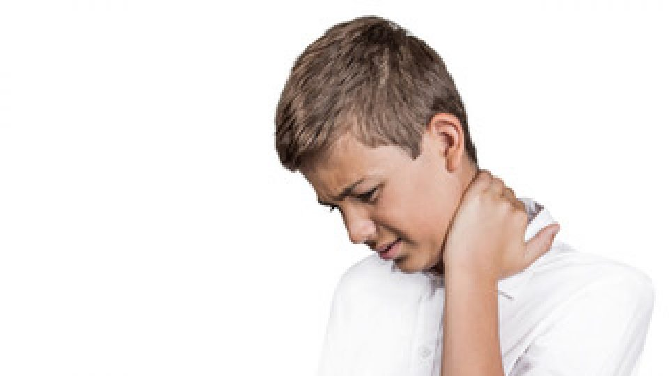 teenager with back neck pain